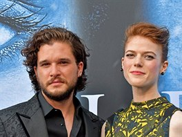 Kit Harington a Rose Leslie (Los Angeles, 12. července 2017)