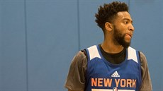 Chasson Randle na tréninku New York Knicks