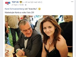 Printscreen facebookového profilu TOP 09.