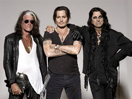 Kapelu Hollywood Vampires tvoří Joe Perry, Johnny Depp a Alice Cooper