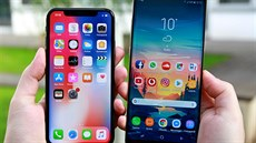 iPhone X a Samsung Galaxy Note 8