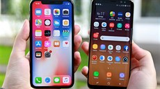 iPhone X a Samsung Galaxy S8