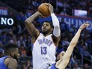 Paul George z Oklahoma City Thunder v utkání proti Los Angeles Clippers...