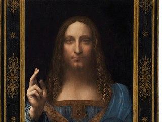 Obraz Leonarda Da Vinciho pojmenovaného Salvator Mundi (Spasitel světa) se...