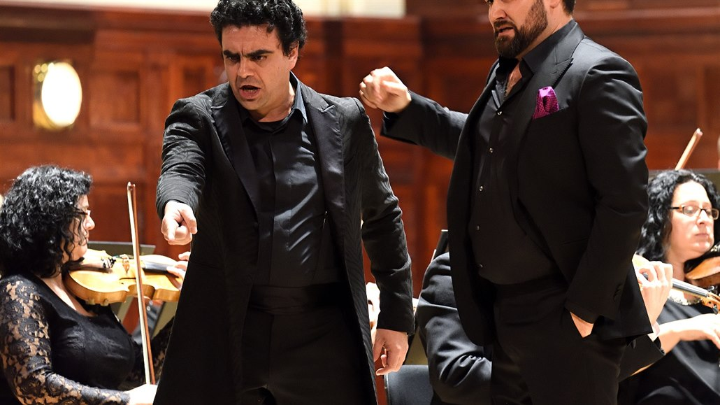 Rolando Villazón a Ildar Abdrazakov na koncertě v Obecním domě