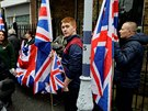 Stoupenci hnutí Britain First na demonstraci v Rochesteru (15.listopadu 2017)