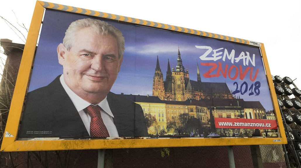 Image result for milos zeman billboard