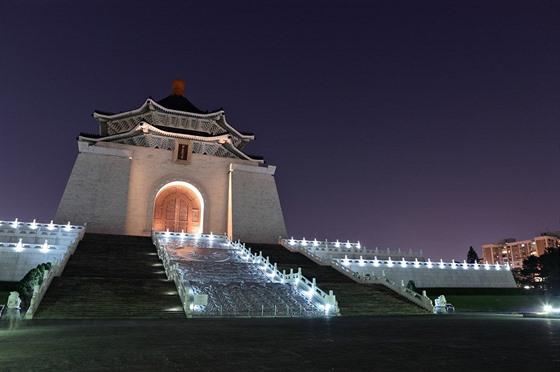 Čankajškova pamětní síň je postavena ve stylu nebeského chrámu v Pekingu.