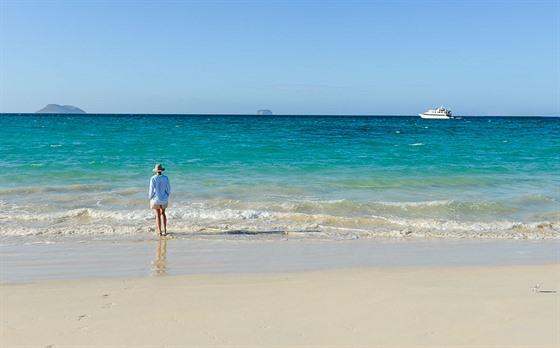 Na Galapágách si můžete užívat nádherných pláží a teplého moře.