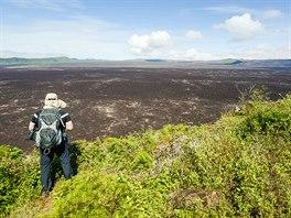 Kráter sopky Sierra Negra je považován za druhý největší kráter na světě, hned...