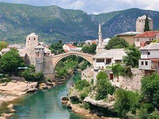 Hercegovský Mostar. Plocha předválečné občiny (zhruba náš okres, resp....
