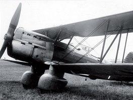 Prototyp vojenského dvoumístbého dvouplošníku Praga B.H.36