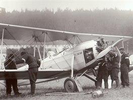 Vojenský školní letoun pro elementární výcvik Praga E.39