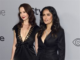 Ashley Juddová a Salma Hayeková na party po Zlatých glóbech (Beverly Hills, 7....