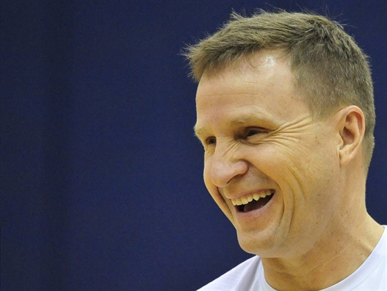Scott Brooks, trenér Washingtonu, v dobrém rozmaru