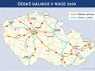 Jak bude podle ŘSD vypadat česká dálniční síť v roce 2050.