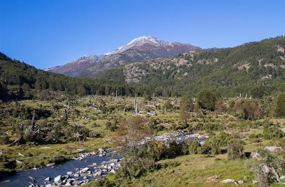 Klasická krajina chilské Patagonie