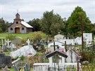 Jeden z mnoha dřevěných kostelíků na ostrově Chiloé. Všechny dohromady jsou...