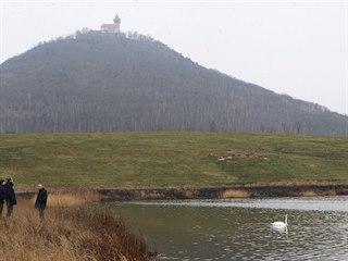 Pohled na Jezero Most a jeho okolí (únor 2018)