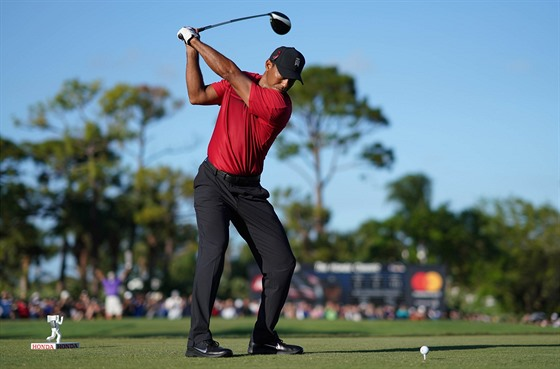 Tiger Woods na turnaji v Palm Beach Gardens.