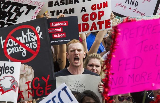 Výsledek obrázku pro foto demonstrace proti zbraním v usa