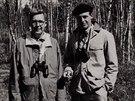 George Wall Merck (vpravo) stál u začátku bakteriálních pokusů na civilistech.