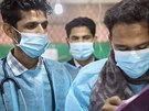 MSF's Bangladeshi medical staff at the Diphtheria Treatment Centre in...