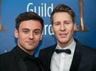 Tom Daley a Dustin Lance Black na Writers Guild Awards (Beverly Hills, 11....