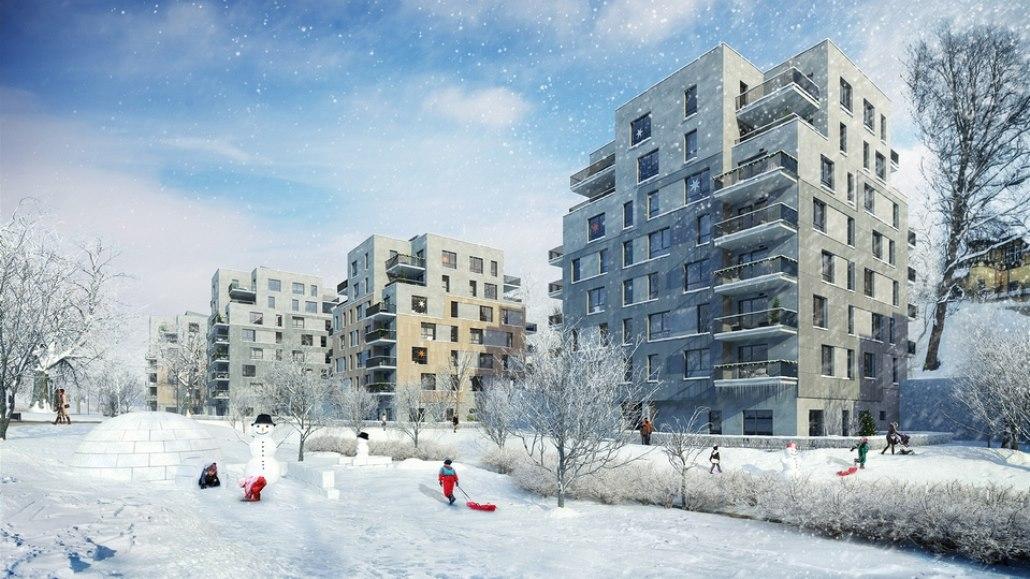 Po zániku Libereckých výstavních trhů se zdevastované území výstavbou rezidence...
