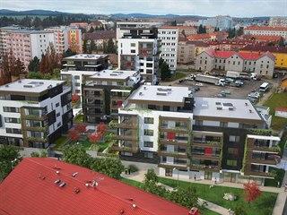 Toto je pohled na budoucí Rezidenci Vrchlického, jež má sousedit s krajským...