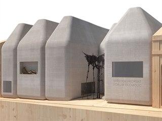 Vizualizace podoby Středoevropského fóra jak ji pro olomoucké Muzeum umění...