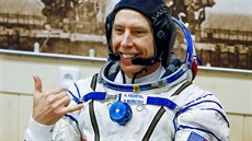 Astronaut Andrew Feustel před startem na ISS 21.3.2018.