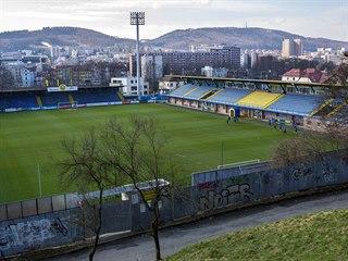 Pohled na stadion fotbalistů Zlína
