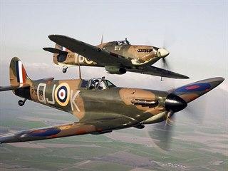 Spitfire a Hurricane