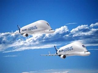 Beluga XL vychází z nákladního letadla Airbus A330-200, Airbus je používá pro...