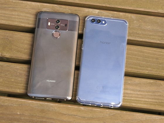 Honor View 10 a Huawei Mate 10 Pro