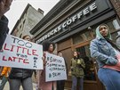 Protesty proti kavárnám Starbucks v USA