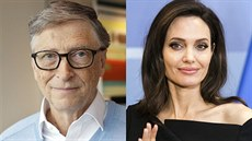 Bill Gates a Angelina Jolie
