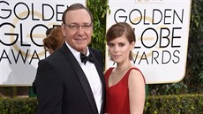 Kevin Spacey a Kate Mara (Beverly Hills, 11. ledna 2015)