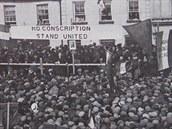 Irsko ochromila před 100 lety generální stávka proti odvodům