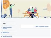 Stránka s přehledem pravidel pro odebírání příspěvků z Facebooku.