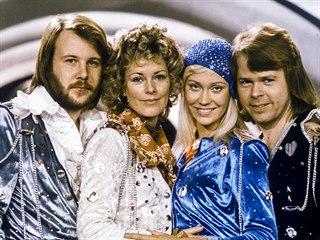 Benny Andersson, Anni-Frid Lyngstadová, Agnetha Faltskogová a Bjorn Ulvaeus z...