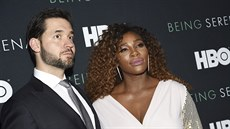 Alexis Ohanian a Serena Williamsová (New York, 25. dubna 2018)