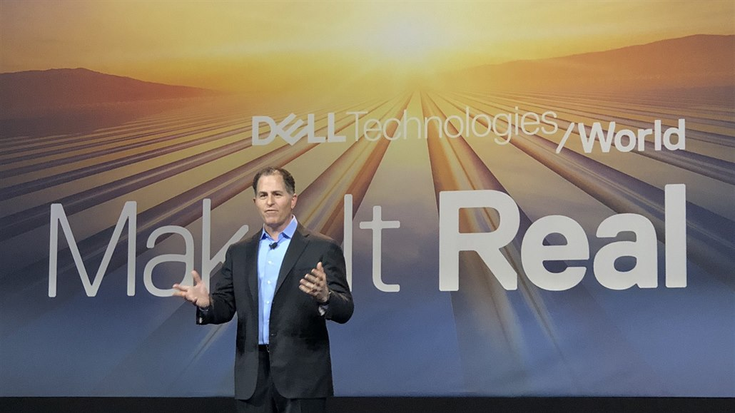 Michael Dell na konferenci Dell Technologies World v Las Vegas