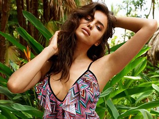 Russian fashion top model Irina Shayk, girlfriend of Cristiano Ronaldo, poses...
