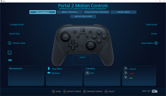 Nintendo Switch Pro Controller na Steamu