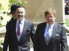 David Furnish a Elton John na svatbě prince Harryho a Meghan Markle (Windsor,...
