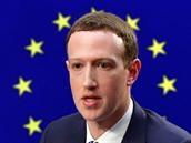 Mark Zuckerberg před Evropským parlamentem (koláž)