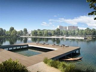 Návrh na novou podobu Kamencového jezera.