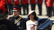 Princ Harry a vévodkyně ze Sussexu Meghan na oslavách Trooping the Colour...
